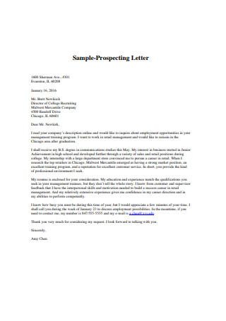 Sample Prospecting Letter Format