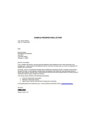 Sample Prospecting Letter