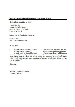 Sample Proxy Letter in PDF