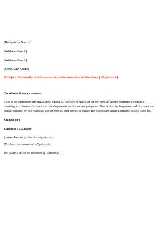 Sample Proxy Letter