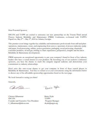 Sample Sponsorship Letter Request