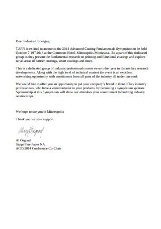 Sample Sponsorship Request Letter