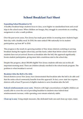 School Breakfast Fact Sheet