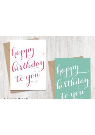 Script Happy Birthday Card
