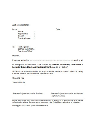 Simple Authorization Letter Template