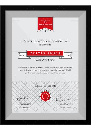 Simple Certificates Template