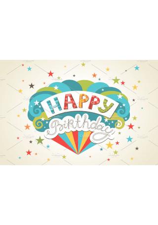 Simple Happy Birthday Greeting Card