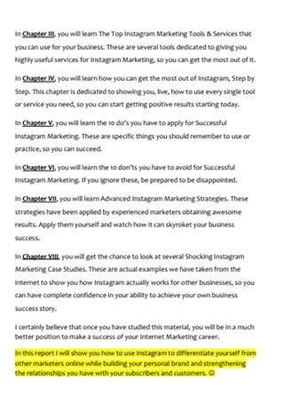 Simple Instaram Marketing