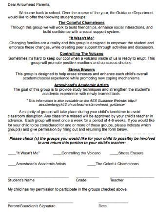 Simple Parents Group Recommendation Letter
