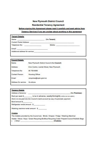 Simple Residential Tenancy Agreement