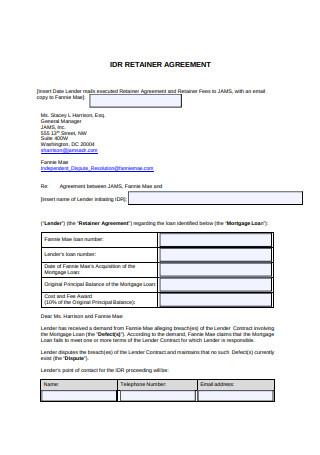 Simple Retainer Agreement