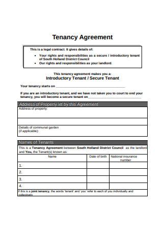 Simple Tenancy Agreement