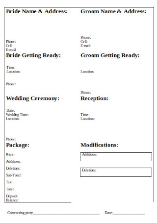 Simple Wedding Photography Contract1