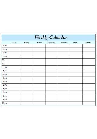 Simple Weekly Calendar