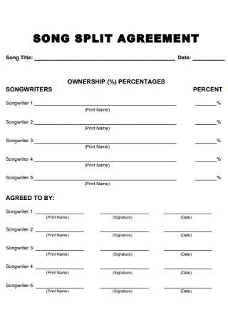 Song Split Agreement