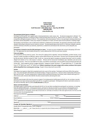 Standard Artist Contract Sample