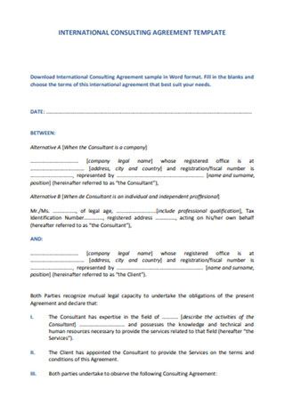 Standard Consulting Agreement Template