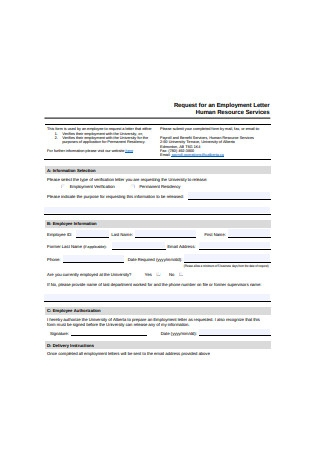 Standard Employment Letter