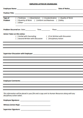 Standard HR Employee Cover Letter