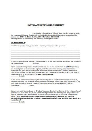 Standard Retainer Agreement Example