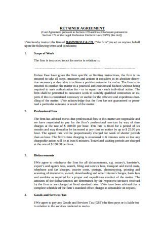 Standard Retainer Agreement Format