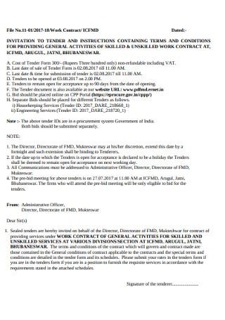 Standard Work Contract