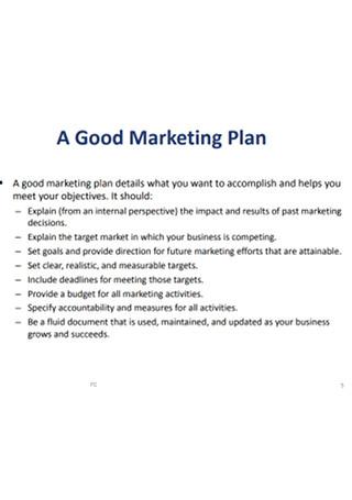 Strategic Marketing Plan for Sucess Sample