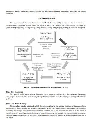 Strategic Marketing Research Plan