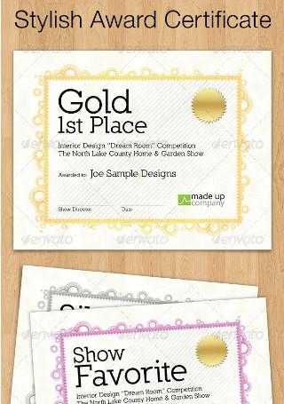 Stylish Award Certificate