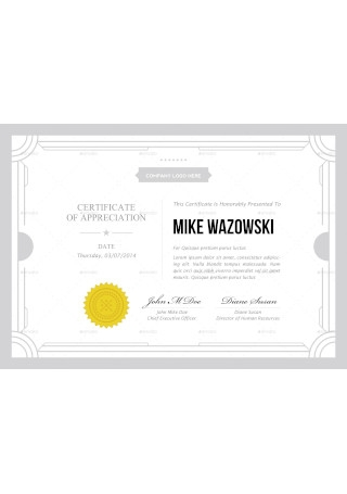 Teaching Diploma Award Certificate