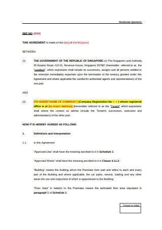 Tenancy Agreement Format