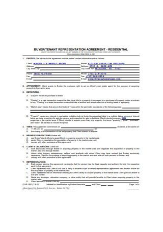 Tenant Representation Agreement