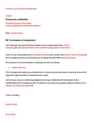 Termination Letter