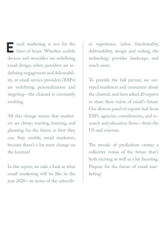 The Future of Email Marketing Report Sample