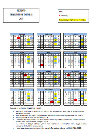 Trash Calendar