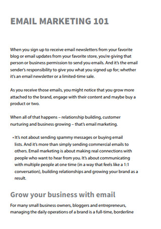 Ultimate Guide to Email Marketing Sample