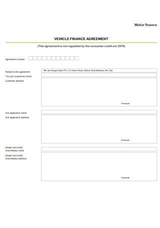 Vehicle Finance Agreement