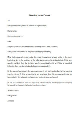 Warning Letter Format
