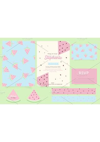 Water Melon Birthday Card