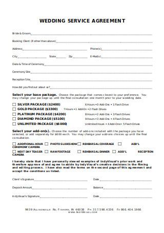 Wedding Service Agreement