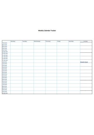 Weekly Calendar Tracker
