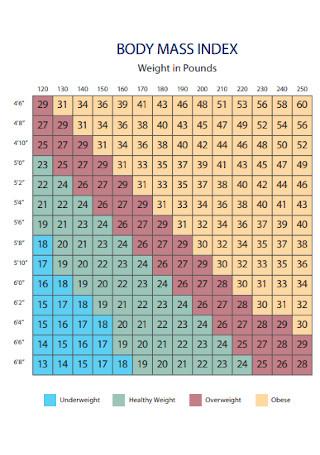 Weight BMI Chart