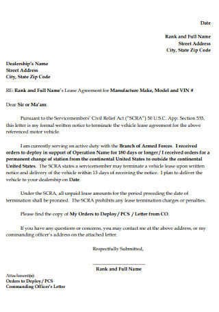 Wonderful Termination Letter for Motor Vechicle
