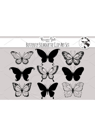 50 Butterfly Silhouettes