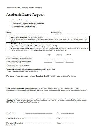 Academic Leave Request Form