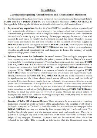 Annual Press Release Template