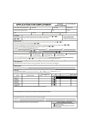 Basic Application for Employment Form