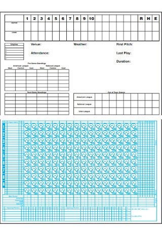 Basic Baseball Scoresheet Template