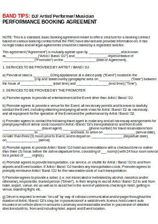 Basic Booking Agreement
