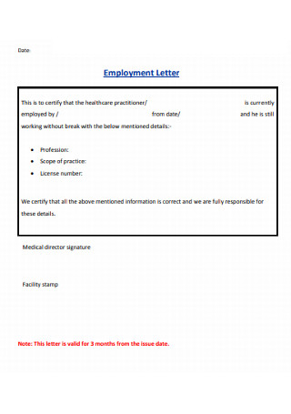 Basic Employment Letter